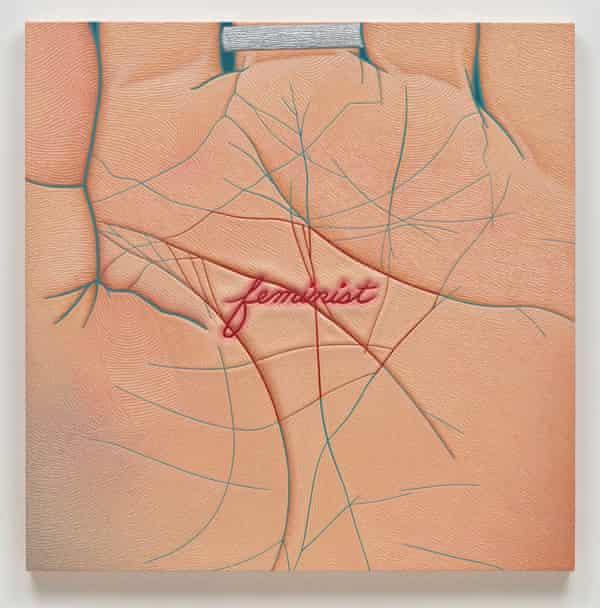 Linda Stark: Stigmata, 2011; oil on canvas over panel