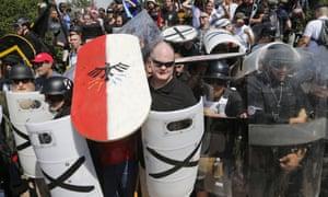 White nationalist demonstrators Charlottesville