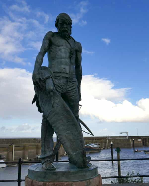 statue of the Ancient Mariner at Watchet harbour