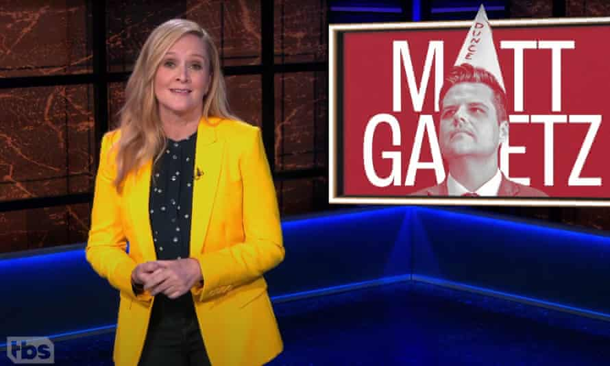 "Samantha Bee: ""In a fair world, Republicans would boo [Matt Gaetz] the way they booed Mitt Romney."""