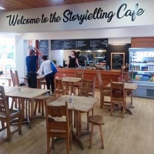 Cafe at the Scottish Storytelling Centre, Edinburgh, Scotland.