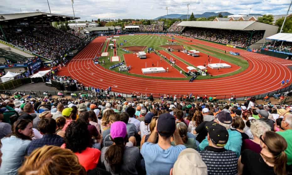 US Olympic Trials at Hayward Field last year.