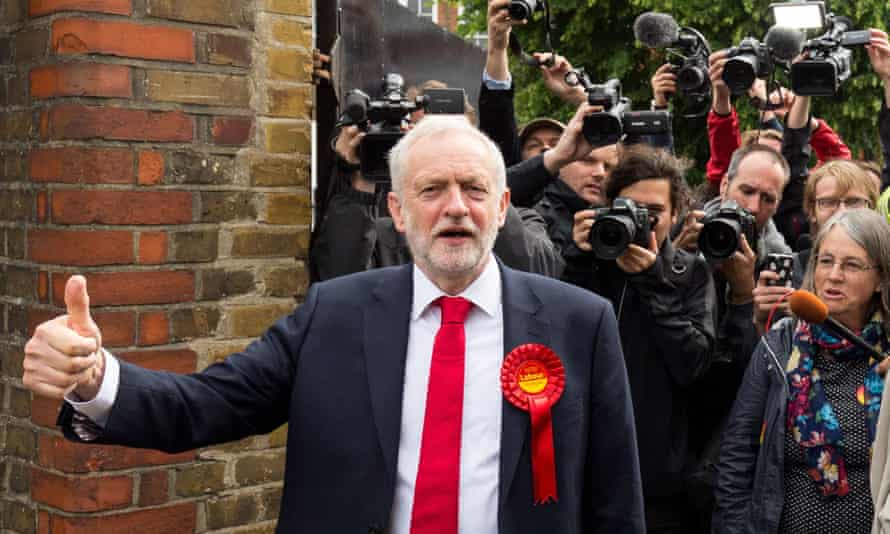 Jeremy Corbyn votes in Islington, London.