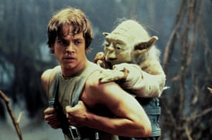 Hamill with Yoda in Star Wars – The Empire Strikes Back, 1980