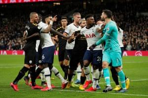 Tempers fray at the Tottenham Hotspur Stadium