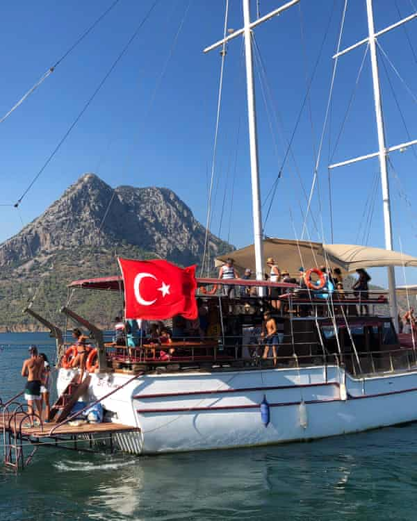 Tourist boat in the Mediterranean