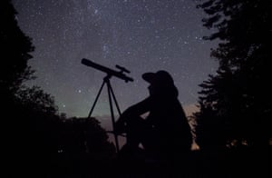 Ontario, Canada A stargazer waits for the Perseid meteor shower to begin near Bobcaygeon