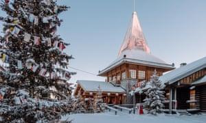 Santa Claus village in Rovaniemi, Finland.