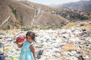 Sania finds a new toy in the rubbish dump on the outskirts of Macedonia.