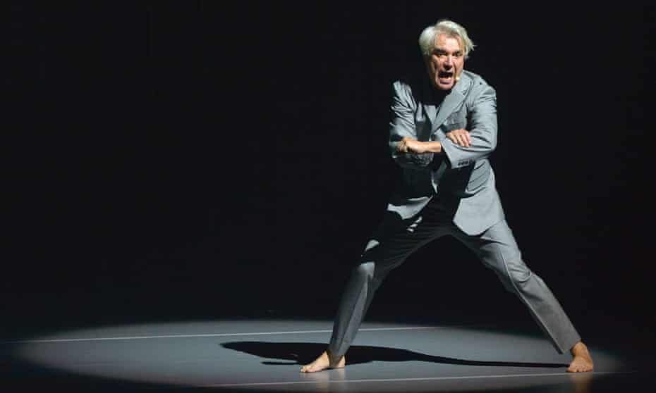 'Incredibly ambitious' ... David Byrne at Oxford New Theatre, 14 June.