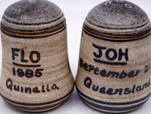 Flo and Joh's matching salt and pepper shakers.