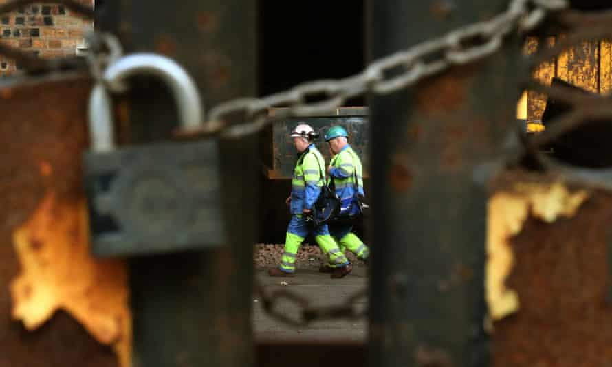 The padlocked gate at the Dalzell steel works in Motherwell