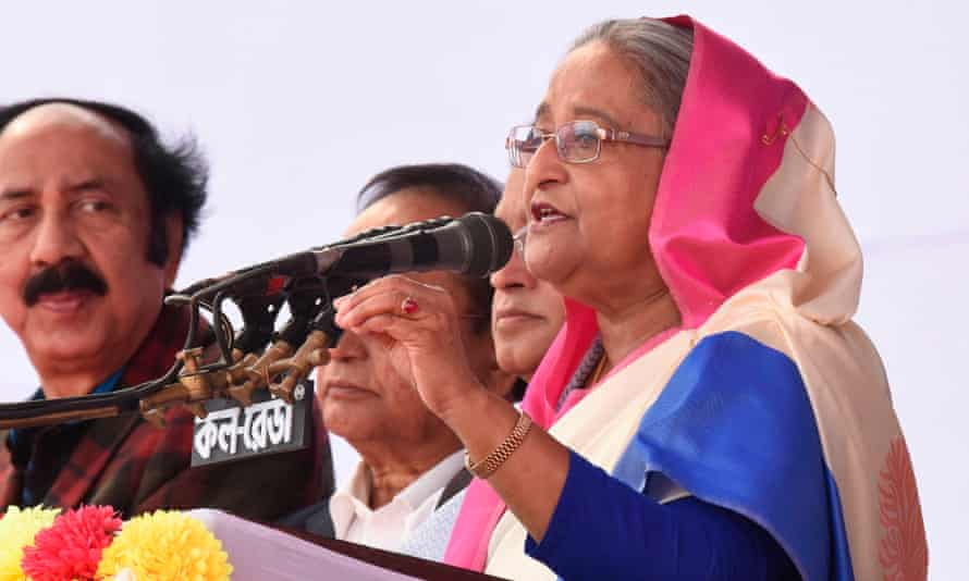 Bangladesh's prime minister Sheikh Hasina speaks ahead of Sunday's election, which has been described as the 'most-stifled' in half a century