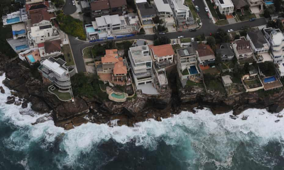 An aerial view of ocean front residents in the eastern suburbs