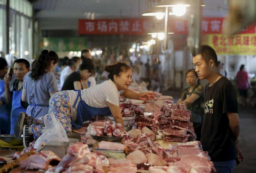 Pork is increasingly popular with China's growing middle class.