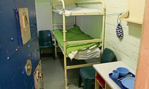 A prison cell in Barlinnie, Scotland