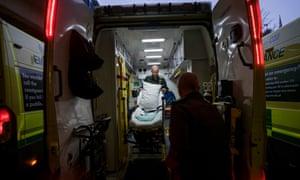 Ambulance at QMC in Nottingham