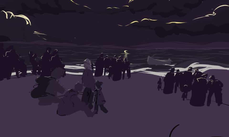 Sea Prayer illustration by Liz Edwards