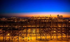 An oilfield in Saudi Arabia