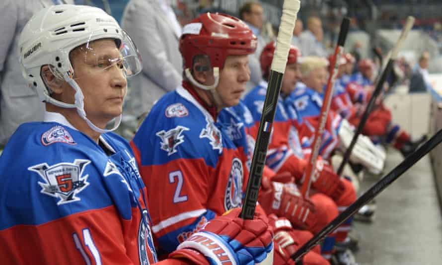 Vladimir Putin on the bench