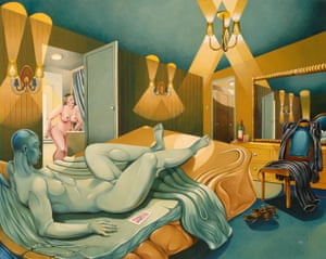 World Hotel Room, 1998, from Caroline Coon's Brothel Series.