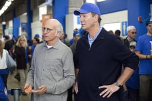 Larry David and Bob Einstein on Curb Your Enthusiasm.