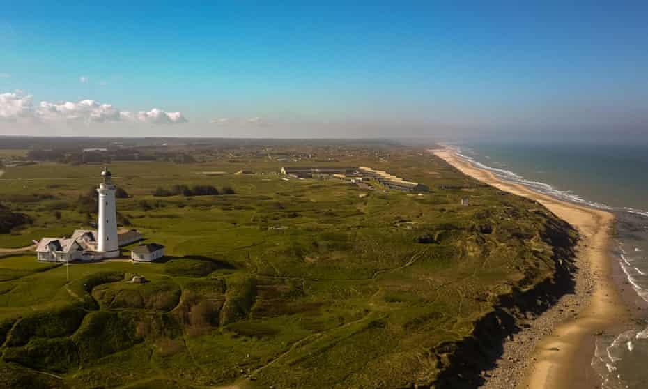 Beach Hirtshals, in Jutland, Denmark.