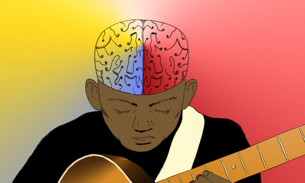 Music probably does something unique. It stimulates the brain in a very powerful way, because of our emotional connection with it.' Illustration: Sophie Wolfson