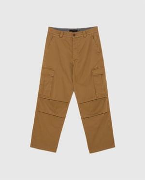 Wide-leg cargo trousers, Zara, £29.99