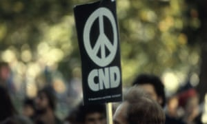CND banner at protest