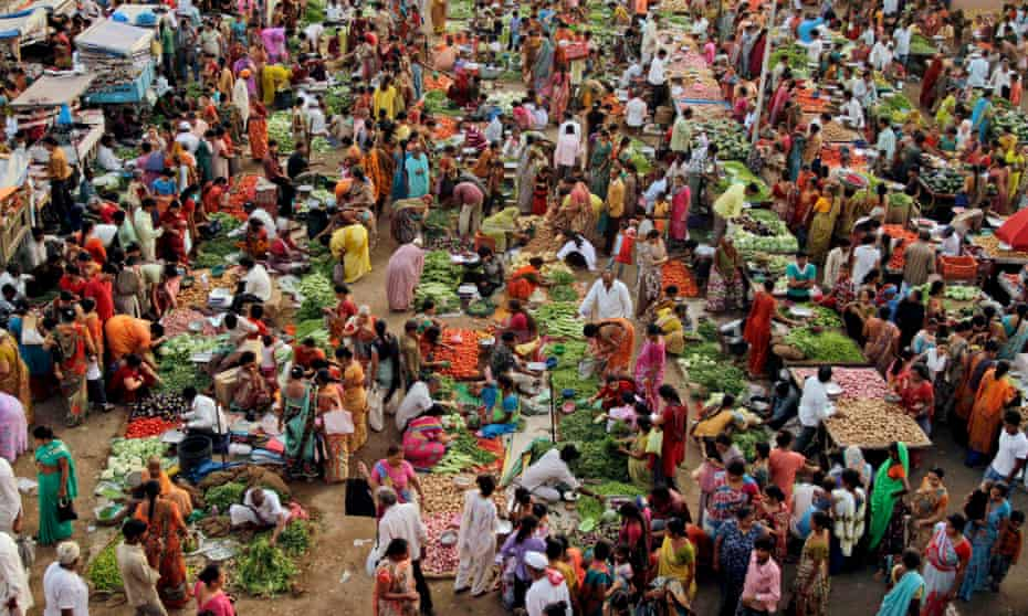 Food market in India.