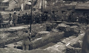 The London Mithraeum being excavated in 1954.