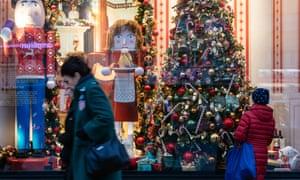 Christmas shoppers in Berlin.