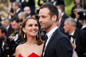 Benjamin Milliepied with his wife Natalie Portman in Cannes last year