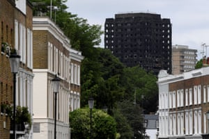 Grenfell Tower seen from wealthy Holland Park, very close to the street where Ed Vulliamy grew up.