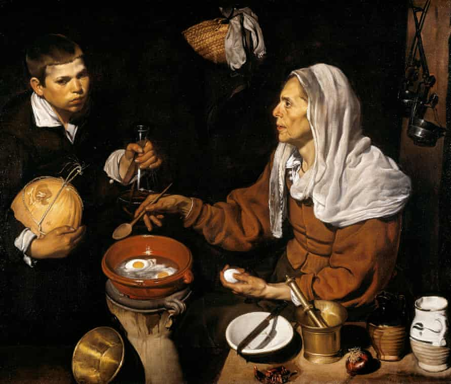 An Old Woman Cooking Eggs, 1618, by Diego Velázquez. Photograph: Alamy