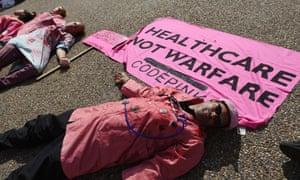 Protestors against strike on Kunduz