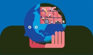 Global mental health illustration