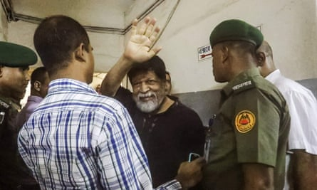 Renowned Bangladeshi photographer Shahidul Alam pictured in a hospital in Dhaka on Wednesday