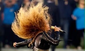 Beyoncé performs at the Super Bowl