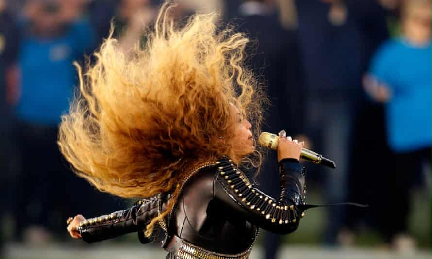 Beyoncé performs at the Super Bowl