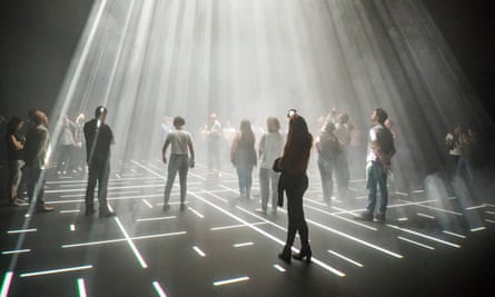 Trippy and sometimes overwhelming beauty … Michael Hulls' Lightspace, part of No Body at Sadler's Wells, London.