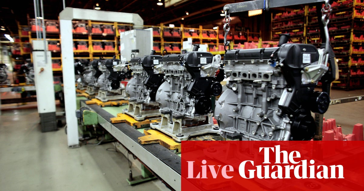 57c841f750b35 Brexit uncertainty hits UK manufacturing; London house prices drop again -  business live | Business | The Guardian