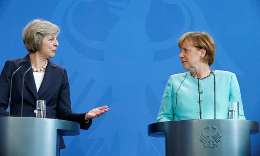 May and Merkel in Berlin
