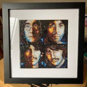 Pauline Baker's Beatles cross-stitch
