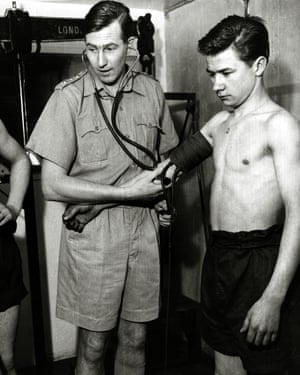 Roger Bannister in 1957, when, as part of his national service, he did research into the cause of deaths among young soldiers in hot climates.