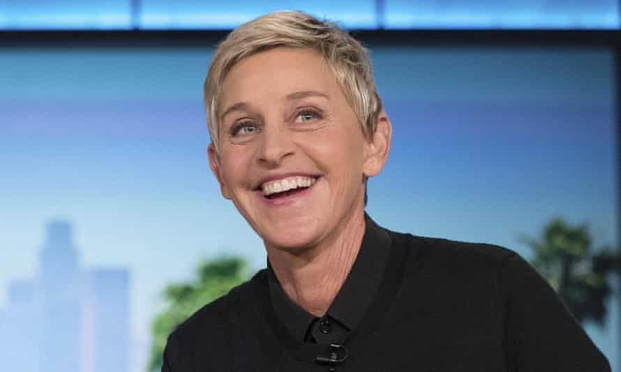 Ellen DeGeneres at a taping of her show in Burbank, California.