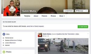 Salim Mulla's Facebook page