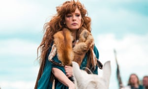 Into battle … Kelly Reilly in celtic warrior epic Britannia, written by Jez Butterworth.