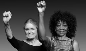 Gloria Steinem and Dorothy Pitman Hughes, photographed by Dan Bagan in 2014.